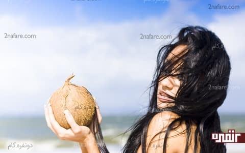 استفاده روغن نارگیل برای مو