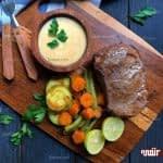 طرز تهیه استیک آبدار و سبزیجات پخته مرحله به مرحله