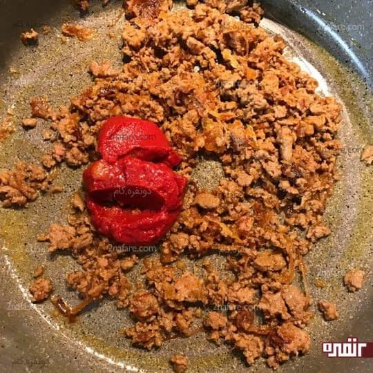 اضافه کردن رب گوجه فرنگی
