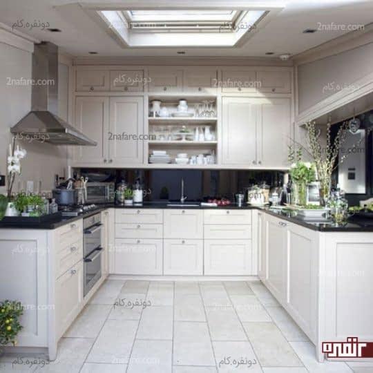 اغلب اوقات آشپزخانه های Uشکل فضای کافی برای قرار دادن جزیره را ندارند