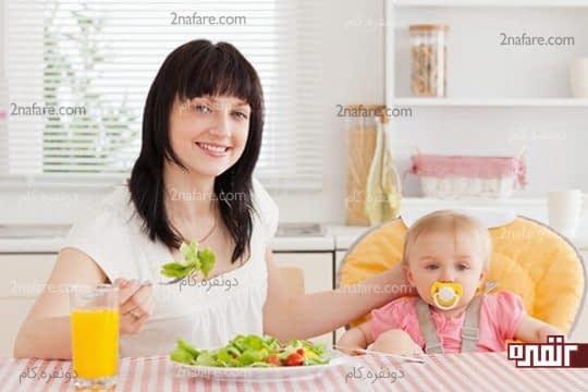 افزایش شیر مادر با مصرف میوه و سبزیجات