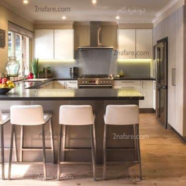 اپن فضایی مناسب برای صرف غذا در آشپزخانه های G شکل