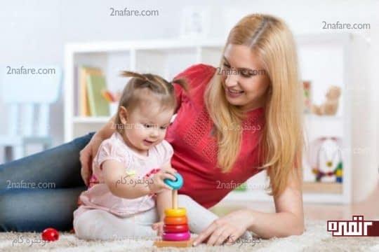 بازی با کودکان باعث سرگرمی و ترک عادت مکیدن انگشت میشود