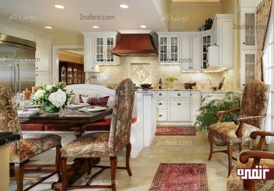 با استفاده از قالیچه و چندین فرش میتوانید کاربری قسمت های مختلف را مشخص کنید