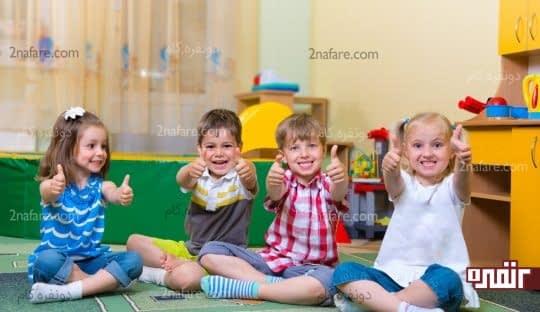 با ترک مکیدن انگشت در جمع کودک آمادگی لازم برای ترک کامل آنرا پیدا کرده است