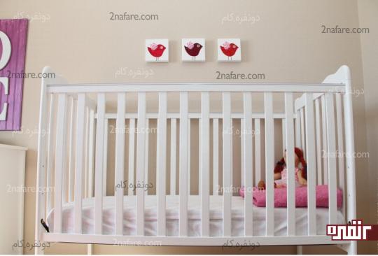 تابلوی پرنده های پارچه ای برای اتاق بچه ها