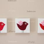 ساخت تابلوی اتاق کودک با طرح پرنده های پارچه ای