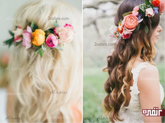 تاج و حلقه های گل صدتومنی عروس