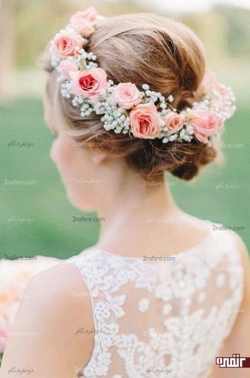 تاج و حلقه ی زیبای گل