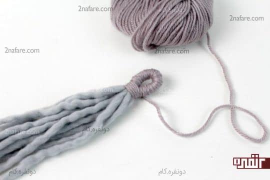 تا کردن رشته ها و بستن دو طرف آن با هم
