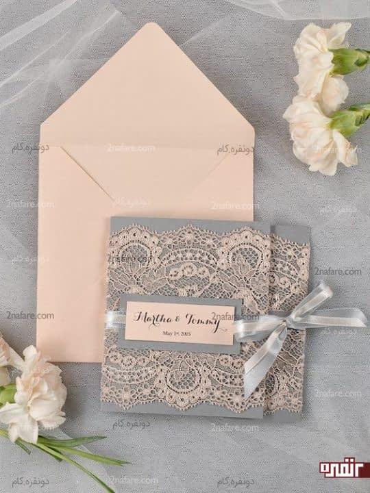 ترکیب رنگ زیبای کارت عروسی