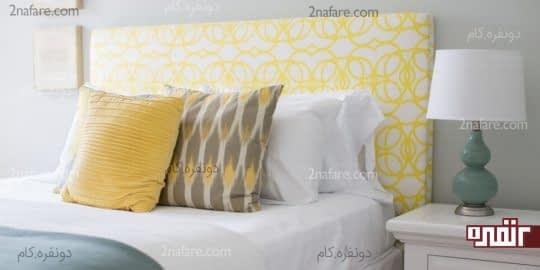 ترکیب رنگ های زرد، سفید و خاکستری در دکوراسیون داخلی