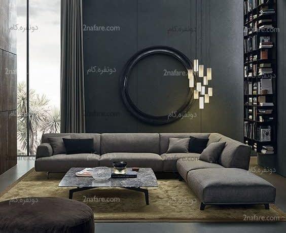 ترکیب زیبای رنگ ها در سبک مدرن برای اتاق نشیمن