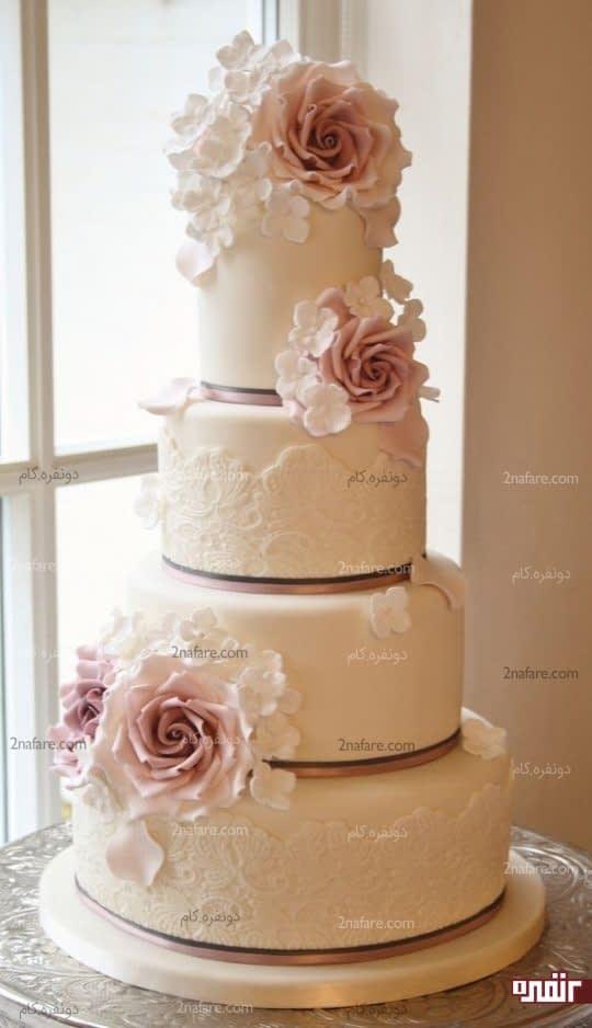 تزیینات فوندانت برای کیک عروسی