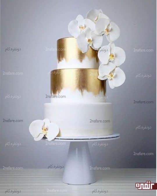 تزیین کیک عروسی با فوندانت