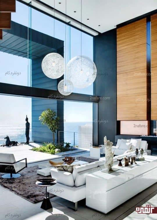 حباب های زیبای شیشه ای برای اتاق نشیمن