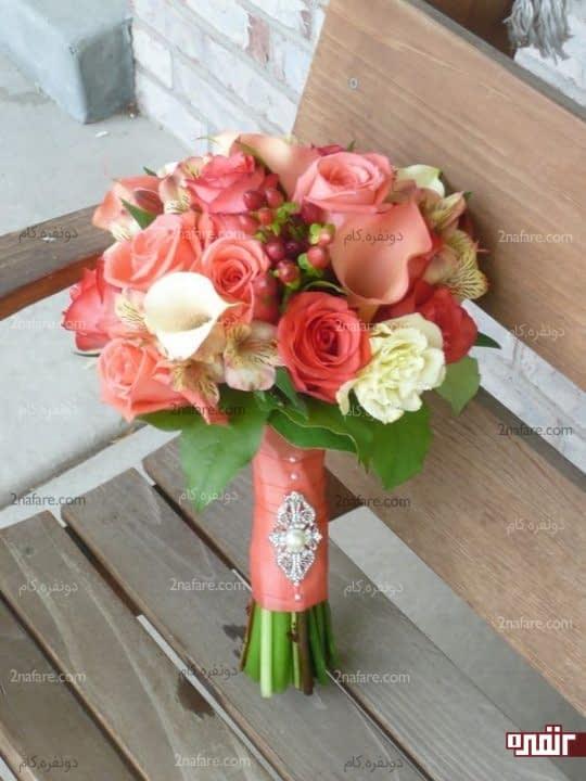دسته گل ترکیبی عروس با شیپوری