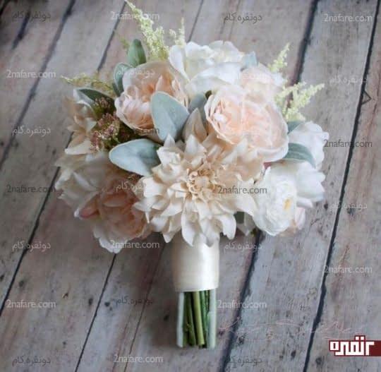 دسته گل ترکیبی و خوش رنگ عروس