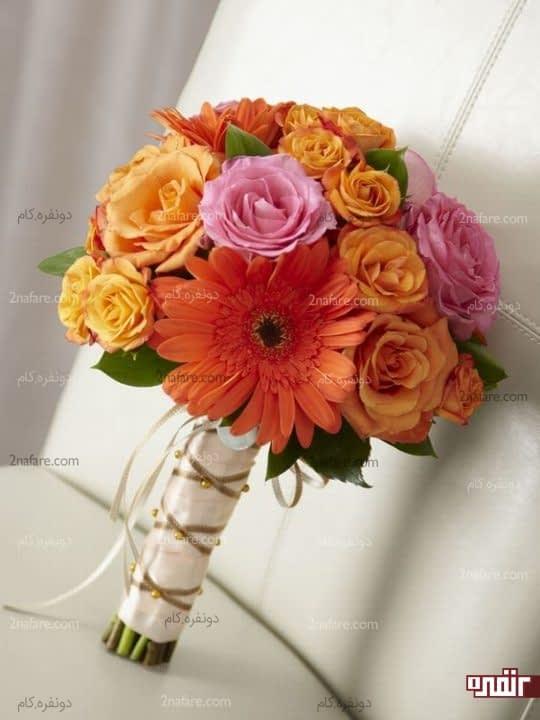 دسته گل خوشرنگ و زیبا برای عروس