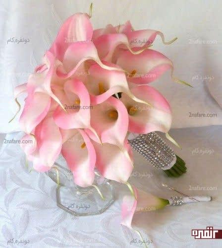 دسته گل شیپوری صورتی