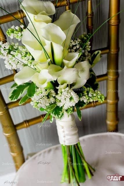 دسته گل عروس با گل شیپوری