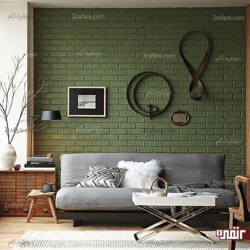 دیوار آجری سبز