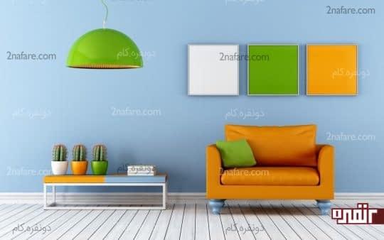 رنگ های زرد، نارنجی، سبز و آبی در دکوراسیون داخلی