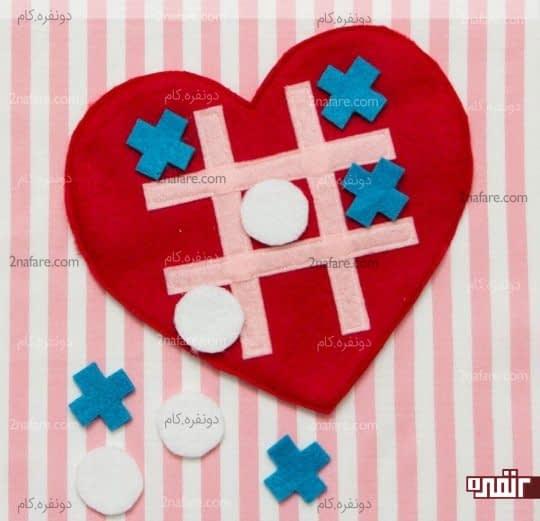 ساخت بازی دوز ( ایکس او ) با طرح قلب برای بچه ها