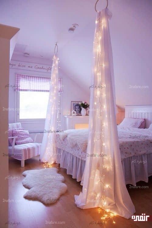 سایه بان های زیبا برای حفظ حریم محل خواب