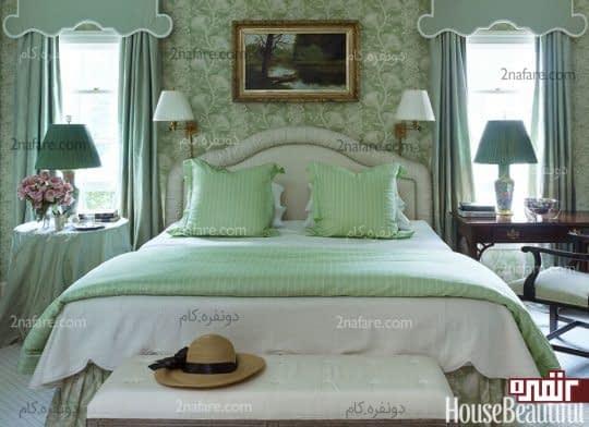 سبز ملایم در اتاق خواب