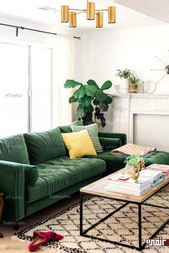 سبز و خاکستری در دکوراسیون داخلی