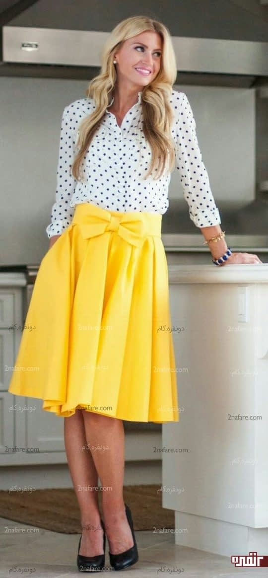 ست لباس زرد و سفیدست لباس زرد و سفید