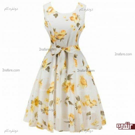 ست لباس زرد و سفید