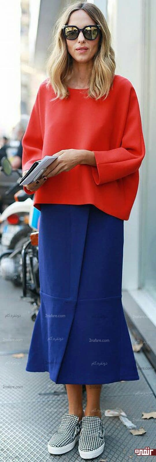 ست لباس سرمه ای و قرمز