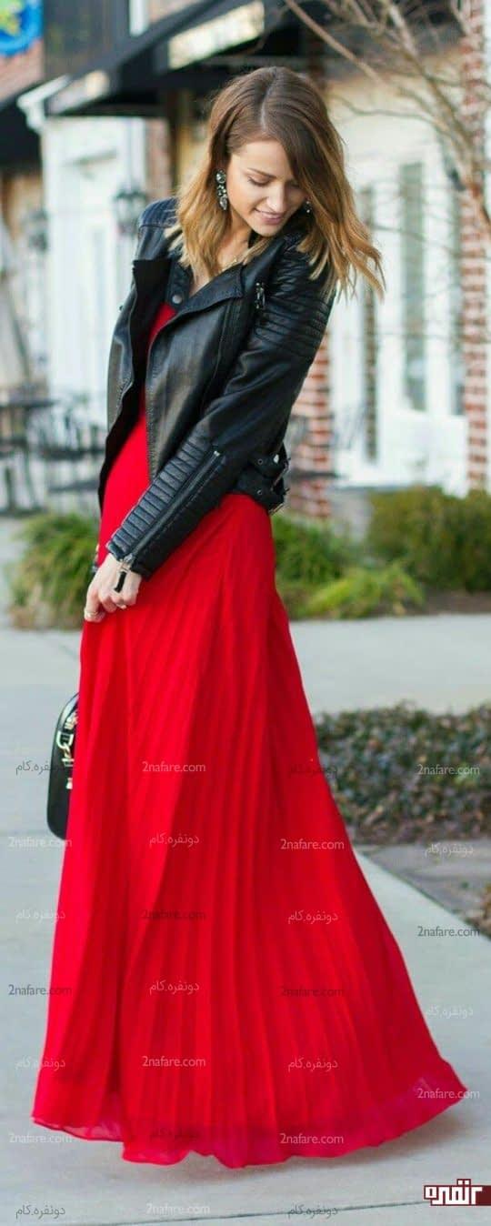 ست لباس مشکی و قرمز