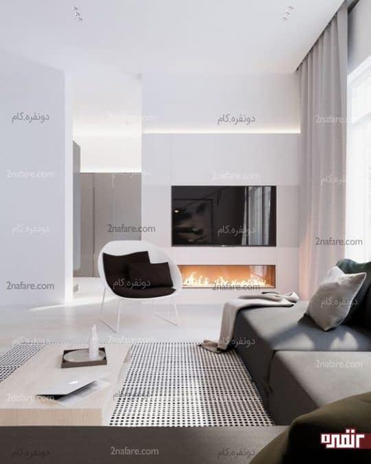 سفید و خاکستری، اصلی ترین تم رنگی برای سبک مدرن در دکوراسیون داخلی