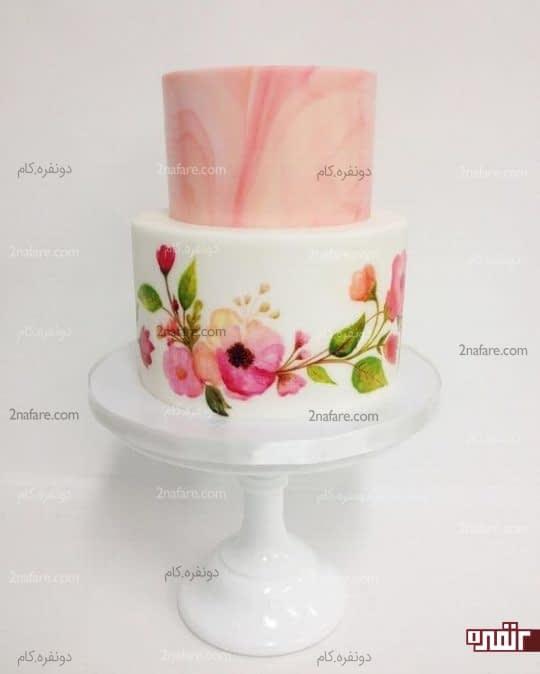 طراحی زیبا روی فوندانت کیک