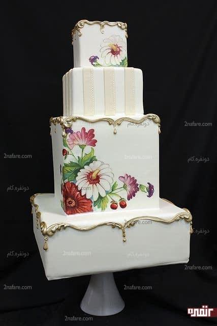 طرح زیبای فوندانت برای تزیین کیک عروسی