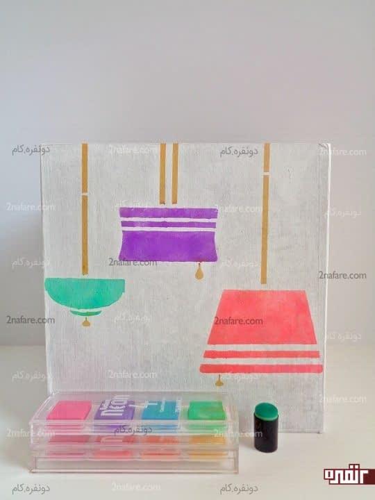 فیکس کردن الگو، رنگ آمیزی و جداسازی الگو از کار