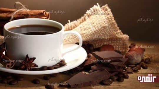 قهوه و شکلات تلخ آرام بخش و ضداسترس