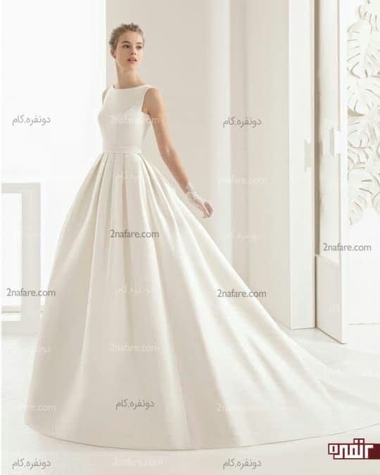 لباس عروس با دامن ساتن