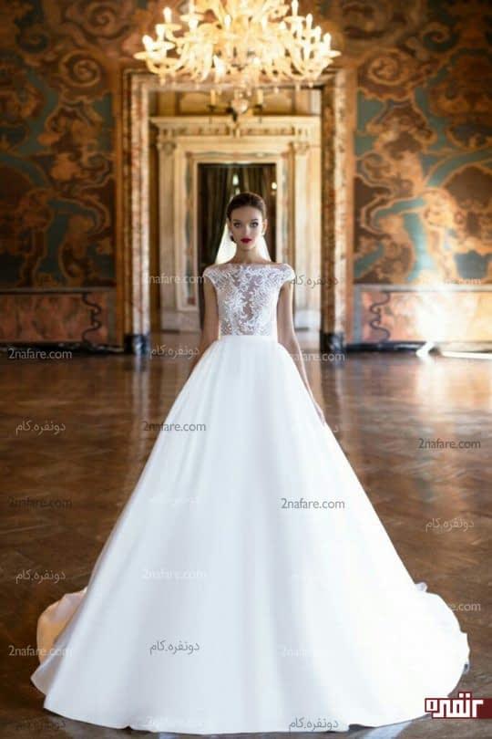 لباس عروس دامن ساتن