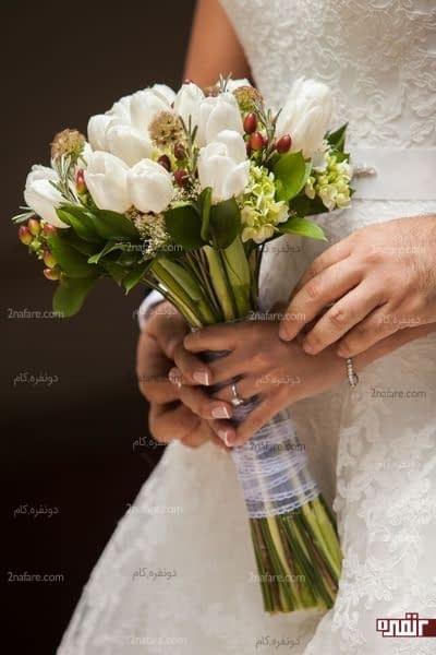 مدل زیبا و متنوع از دسته گل عروس