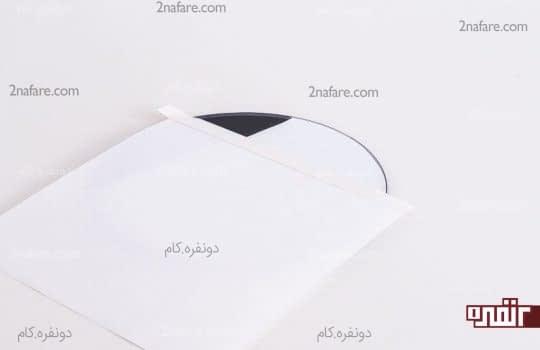 مشخص کردن قسمت دوم و چسبوندن کاغذ برای جلوگیری از پخش رنگ