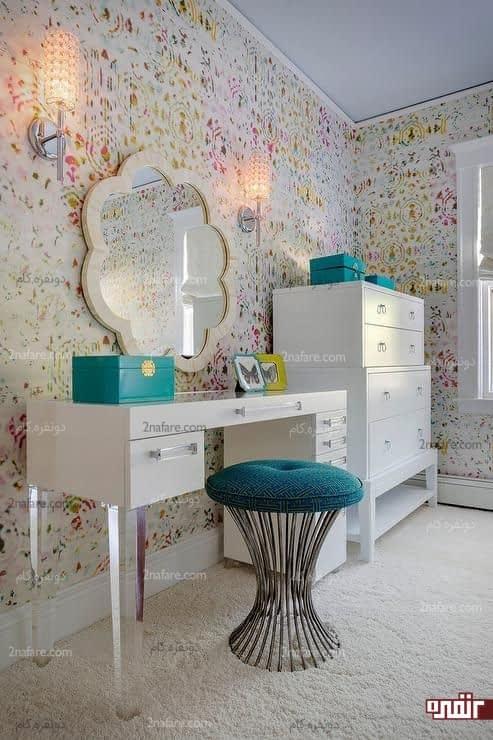 میز آرایش زیبا و آینه ای مدرن