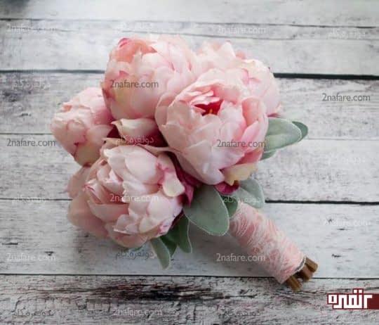 پئونی صورتی برای دسته گل عروس