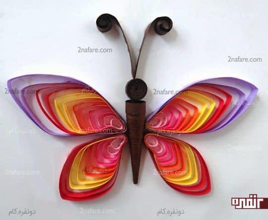 پروانه ملیله کاغذی