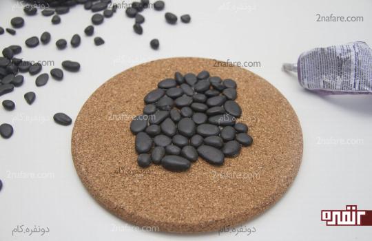 پر کردن گوشه های خالی با چینش مناسب سنگها