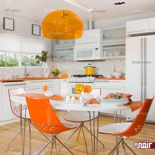 کاربرد رنگ نارنجی در آشپزخانه
