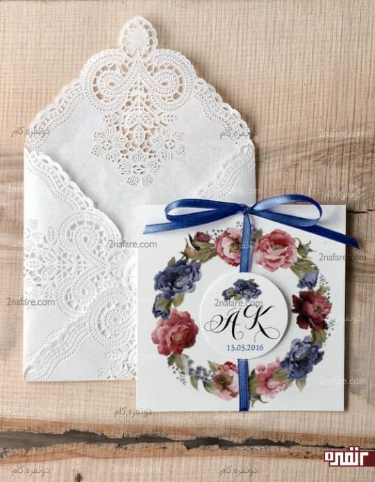 کارت شیک و زیبای عروسی